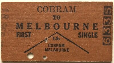 VR Ticket - COBRAM to MELBOURNE - Used First Single