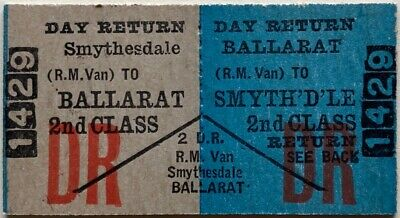 VR Ticket - SMYTHESDALE to BALLARAT (R.M. Van) - 2nd Class Day Return