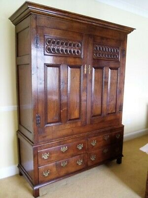 A Bylaw Antique Style Oak Wardrobe / Armoire / Press