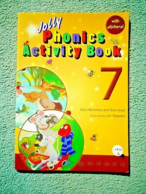 Jolly Phonics Activity Book 7:  Precursive Letters with Stickers Unused PB