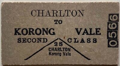 VR Ticket - CHARLTON to KORONG VALE - 2nd Class Single