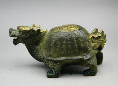 Collection old Chinese Bronze Gilt  hand carved Dragon turtle Teapot
