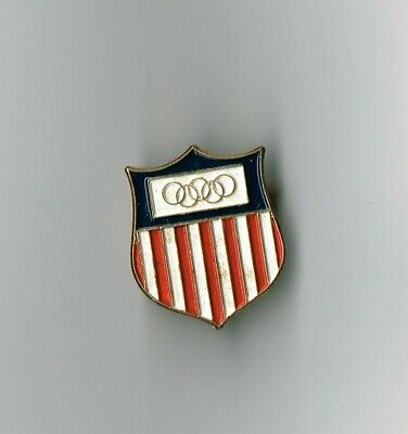 1956 Australia Olympic Games Pin -Usa -Complete Pin/Badge In-Good Order