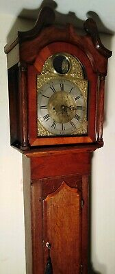 Antique Oak  Automation Brass  Rocking Ship Dial  Longcase / Grandfather Clock
