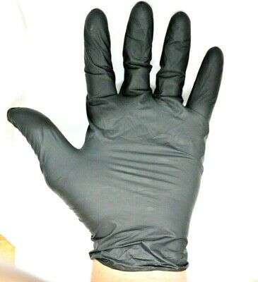 Disposable Power Free Blue and Black Latex Vinyl Single Use Medical Gloves