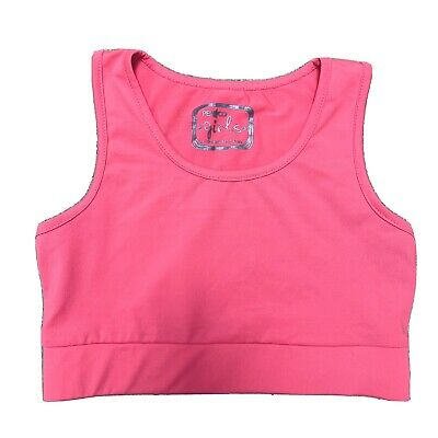 Pink Dance Bra / Crop Top Girls Age 9-10