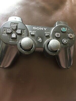 Official Sony PlayStation 3 Dualshock 3 Controller six axis  Black. Used.