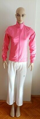 Womens pink white adidas tracksuit size small