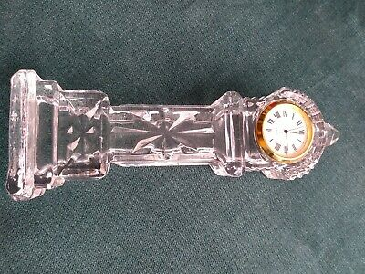 Tall Crystal Mantle Clock Working Grandfather Style