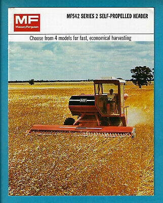Massey Ferguson Mf542 Series 2 Self-Propelled Header 12 Page Brochure