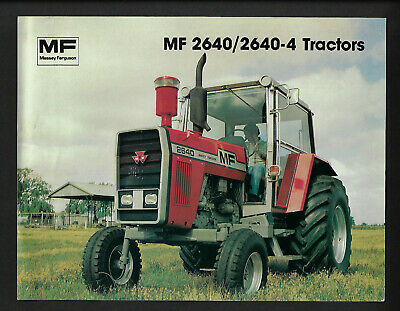 Massey Ferguson Mf 2640/2640-4 Tractors Specifications Brochure