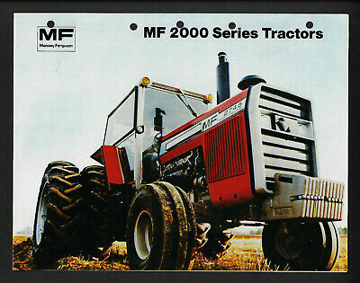 Massey Ferguson Mf 2000 Series Tractors 4 Page Specifications Brochure
