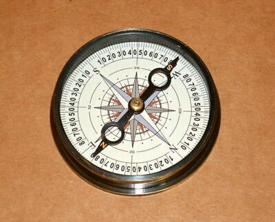 """Antique vintage nautical solid brass 2"""" compass henry hughes collectible compass"""