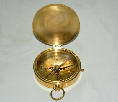 """Vintage brass 3"""" compass maritime titanic compass collectible replica good gift"""