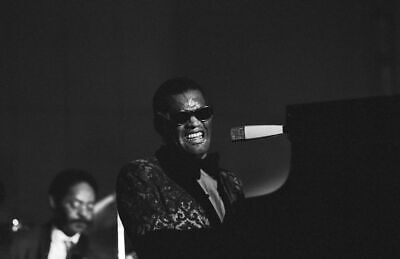 Ray Charles Negro Jazz music Colorful Painting Piano Vintage Fabric Poster TY249