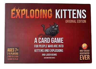 Exploding Kittens - Original Edition - Card Game / Board Game