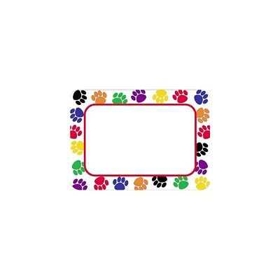 Teacher Created Resources Colorful Paw Prints Name Tags (5168)