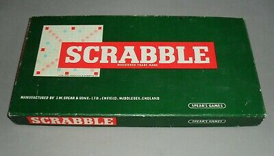 Scrabble Fun Family Educational Word Board Game Spears 1955 COMPLETE EXC RARE