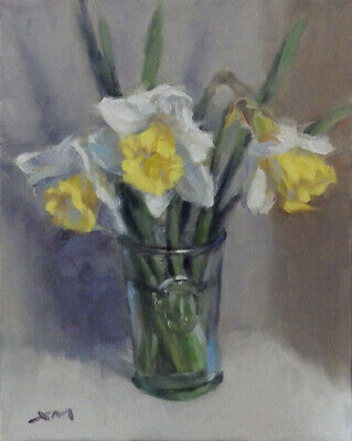 """Daffodils2"" original fine art floral oil painting by Xiaomei Griffiths"