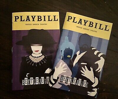 LIMITED RUN Beetlejuice Broadway Musical SPECIAL January + February Playbills
