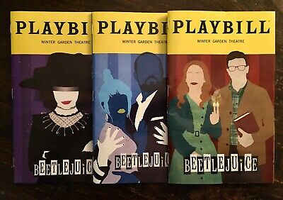 Exclusive! Beetlejuice Musical Three Playbill Set! January, February, and March!