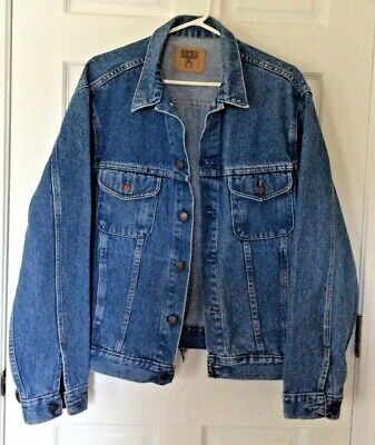 Vintage 1970's Gap Denim Trucker Jean Jacket size  XL medium wash