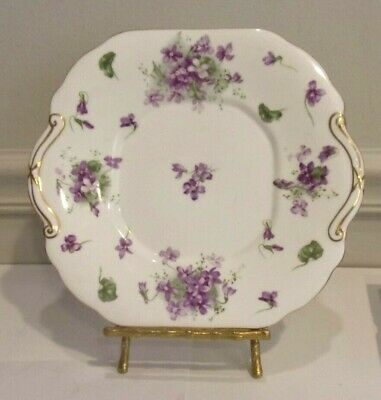 "Hammersley Victorian Violets Pattern,Bone China 10 "" Cake Plate, Made in England"