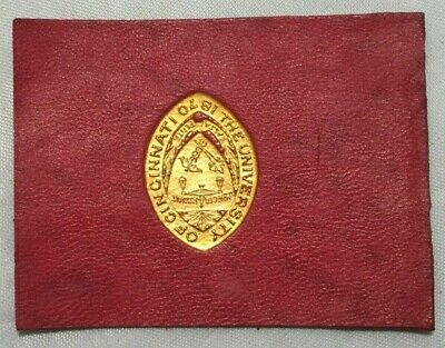 Early 1900's Tobacco Leather College Seals University of Cincinnati Gold Seal
