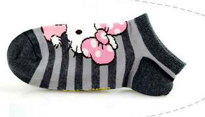 Girls Hello Kitty Cotton Trainer Liner Socks/fits age 9-11 year olds* Grey