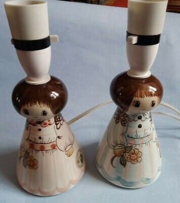 pair Vintage Jersey Studio Pottery Table Lamps
