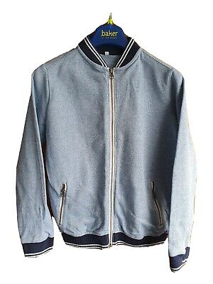 Boys Marks And Spencer Age / Size 9-10 Years Blue Bomber Style Jacket Top