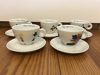 """illy collection CAPPUCCINO """"Tazzine Ballerine"""" by MARCO LODOLA, neu!"""
