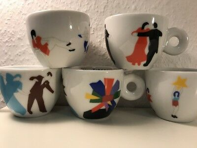 """illy Collection """"Tazzine Ballerine"""" by MARCO LODOLA, 5 Espressocups Barversion"""