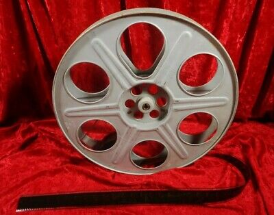 Vintage 35Mm 2000 Ft. 14.5 Inch Metal Movie Theater Film Reel * Made In U.s.a.