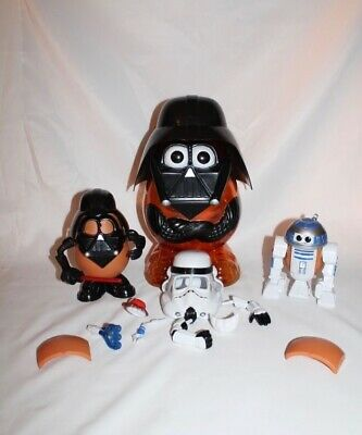 Star Wars Mr Potato Head 2002 hasbro with Darth Vader, R2D2 and Stormtrooper.
