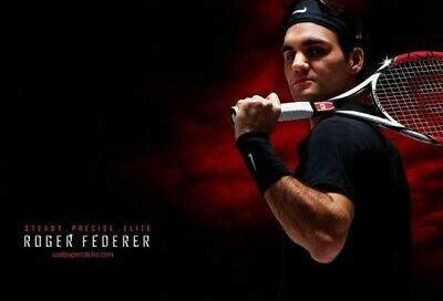 ROGER FEDERER Poster G.O.A.T Goat Greatest All Time [24 x 36] Inch 4