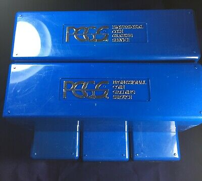 Lot of 5 - Blue PCGS Storage Boxes Each Holds 20 Coins