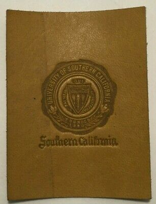 Early 1900's Tobacco Leather College Seals University of Southern California USC
