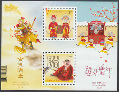 Canada- *NEW* Year Of The Pig/Rat Transitional S/S (2020)-MNH