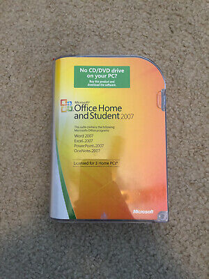 Microsoft Office Home and Student 2007 (3-User) With License Key in Box