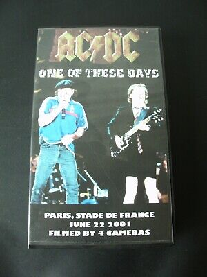 """Video VHS   AC/DC """" One of These Days """" Live Stade de France 22/06/01  4 CAMERAS"""