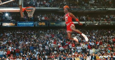 1988 SLAM DUNK CHAMP Poster NBA National Basketball Poster [24 x 36] Inch 1