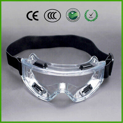 Safe Lab Glasses Protective Safety Eye Goggles Chemical Eyewear Clear Anti-Fog