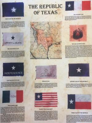 The Republic of Texas Flags - Zavala Come Take It Alamo, Map  Reproduction Gift