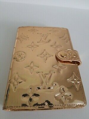 Authentic Louis Vuitton Monogram GOLD Mirroir METALLIC Agenda PM PLANNER RARE!
