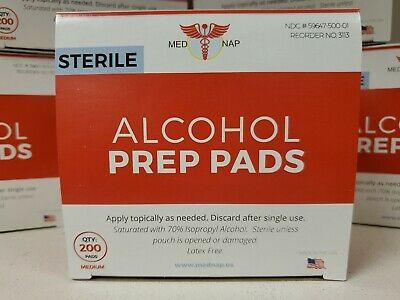 Alcohol Prep Pad - Sterile Alcohol Preparation Pad Pack of 200 MADE in the USA