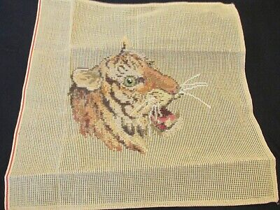 "Trammed ""Tiger"" Tapestry  With Wools 36Cm X 36Cm"