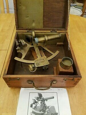 1941 Sextant Henry Hughes&Son #24390 England With Box