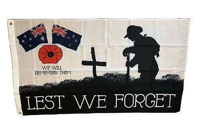 Anzac Lest We Forget Flag..Large