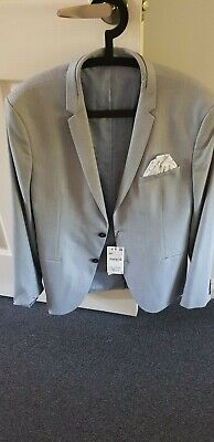 ZARA MAN Mens LIGHT BLUE SUIT JACKET SZ 44 *BNWT*